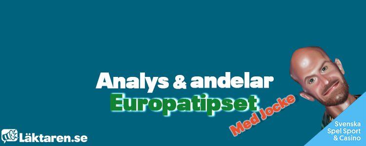 Europatipset 26/9 – Tips, andelar & analys