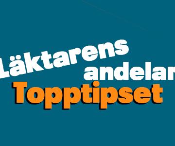 Läktarens andelar – Topptipset – Tisdag 2/3