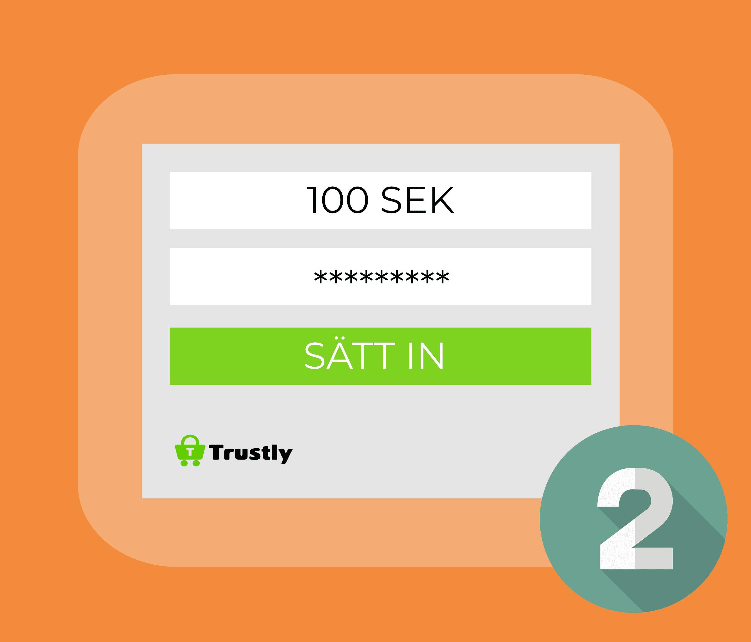 Gör en insättning och identifiera dig med BankID