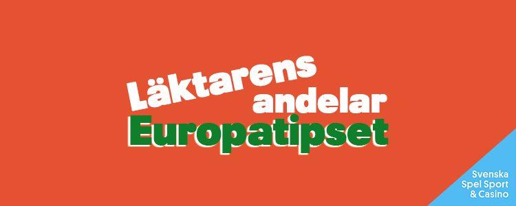 Läktarens andelar – Europatipset – Onsdag 3/3